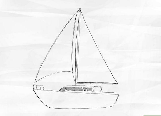 Prent getiteld Teken `n Seilboot Stap 4