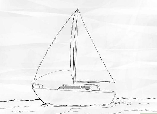 Prent getiteld Teken `n Seilboot Stap 5