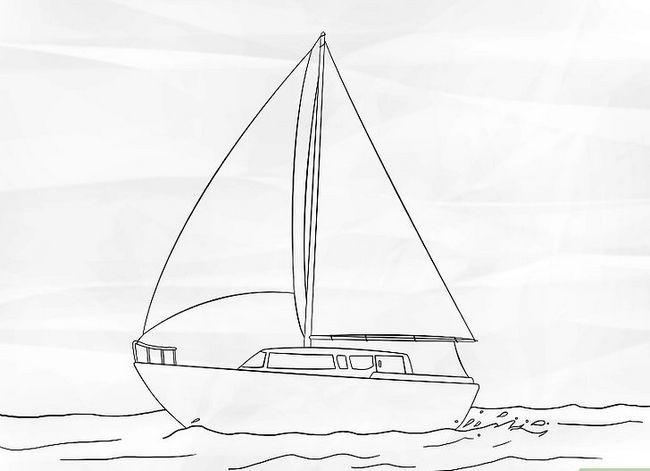 Prent getiteld Teken `n Seilboot Stap 6