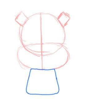 Prent getiteld Teken Chibi Squirrel Body Step 3