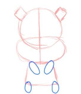 Prent getiteld Teken Chibi Eekhoring Limbs Stap 4