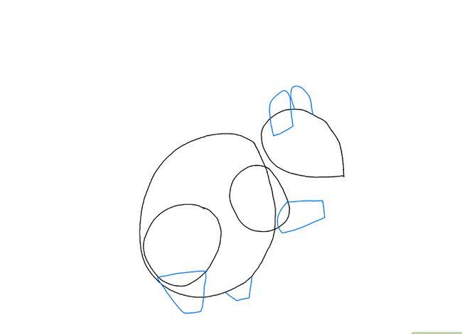 Prent getiteld Teken `n Eekhoring Stap 11
