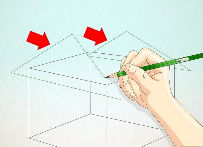 Prent getiteld Teken `n eenvoudige huis Stap 12