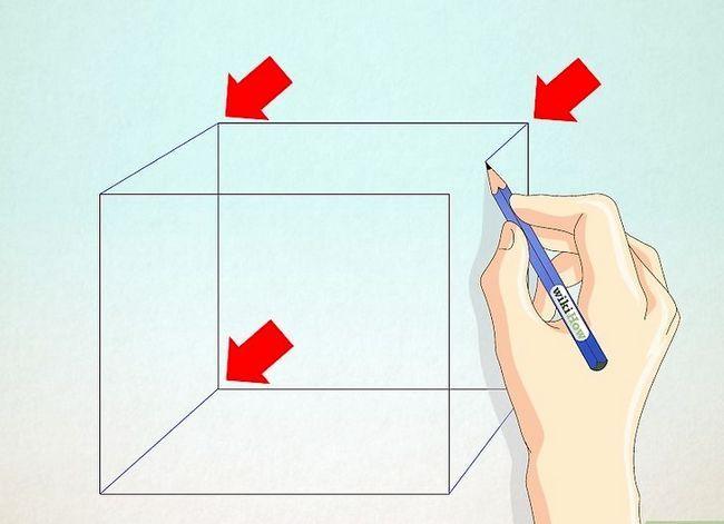 Prent getiteld Teken `n eenvoudige huis Stap 19