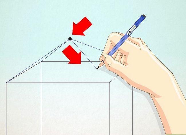 Prent getiteld Teken `n eenvoudige huis Stap 21