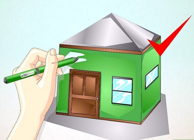 Prent getiteld Teken `n eenvoudige huis Stap 24