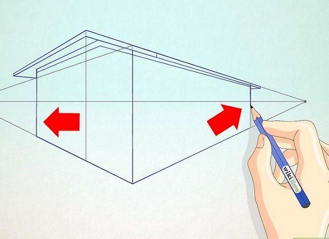 Prent getiteld Teken `n eenvoudige huis Stap 7