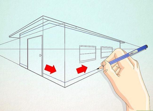 Prent getiteld Teken `n eenvoudige huis Stap 9