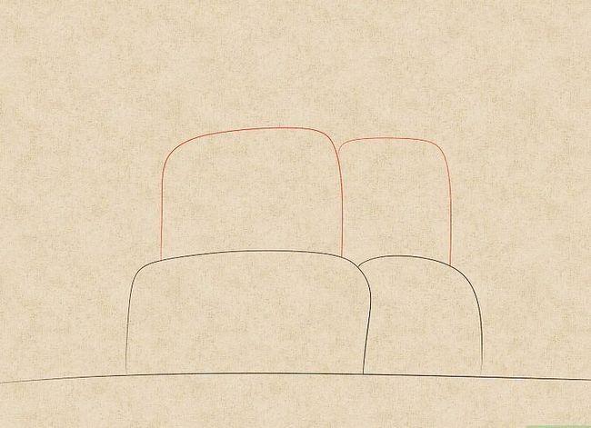 Prent getiteld Teken `n waterval Stap 3