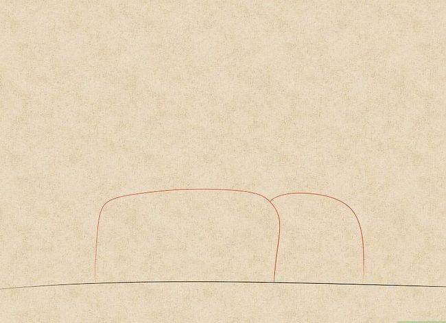 Prent getiteld Teken `n waterval Stap 2
