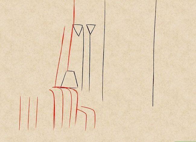 Prent getiteld Teken `n waterval Stap 10