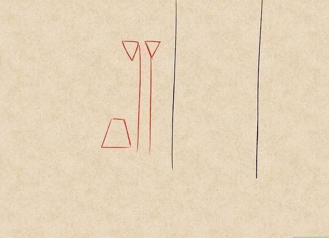 Prent getiteld Teken `n waterval Stap 9
