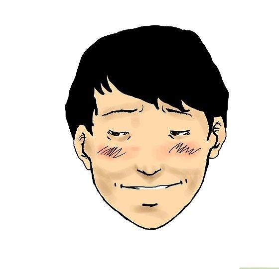 Prent getiteld Embarassed face color Stap 11