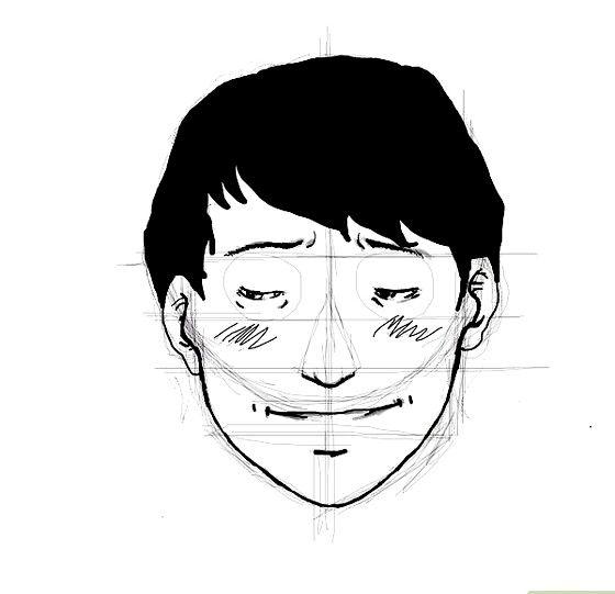 Prent getiteld Embarassed face ink Stap 10