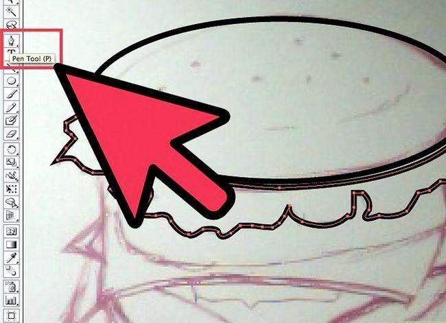 Prent getiteld Teken `n Hamburger In Adobe Illustrator Stap 3