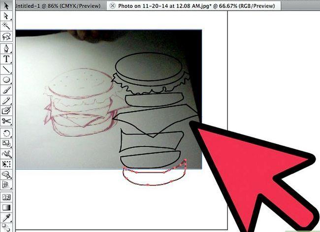 Prent getiteld Teken `n Hamburger In Adobe Illustrator Stap 4