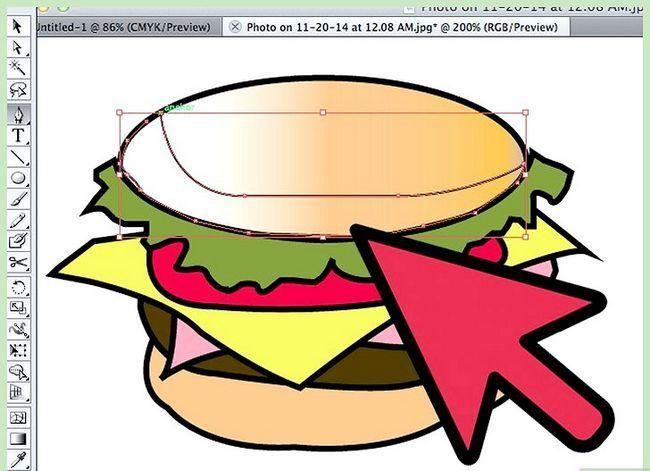 Prent getiteld Teken `n Hamburger In Adobe Illustrator Stap 6