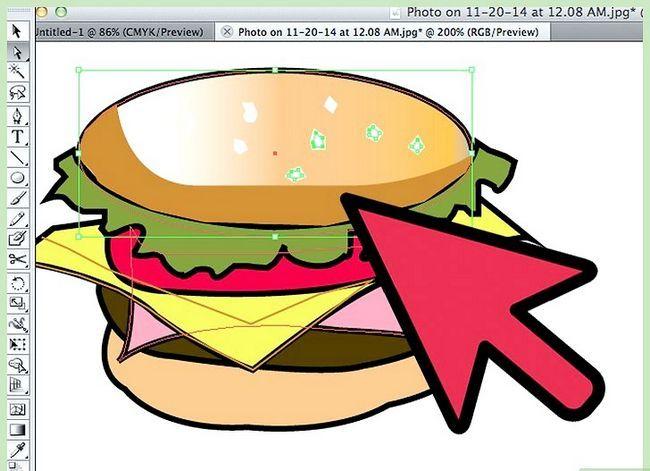 Prent getiteld Teken `n Hamburger In Adobe Illustrator Stap 7