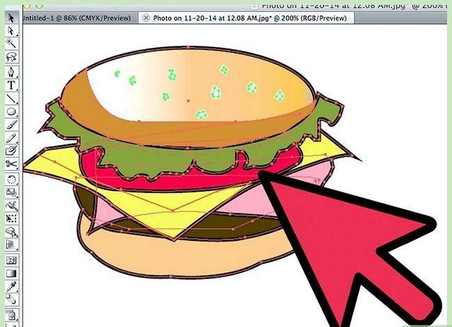 Prent getiteld Teken `n Hamburger In Adobe Illustrator Stap 8