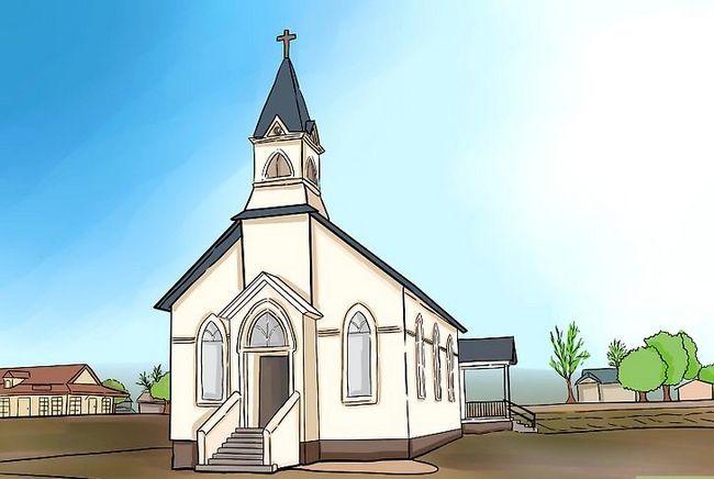 Prent getiteld Teken `n kerk Stap 1