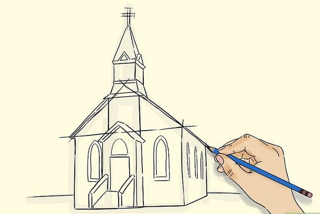 Prent getiteld Teken `n Kerk Stap 4