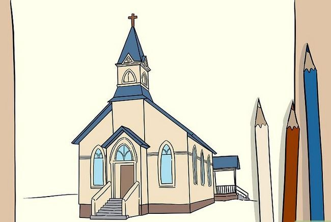 Prent getiteld Teken `n Kerk Stap 7