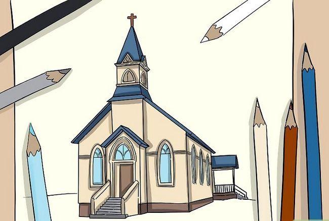 Prent getiteld Teken `n kerk Stap 8