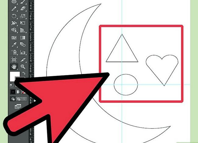 Prent getiteld Teken `n maan in Adobe Illustrator Stap 5