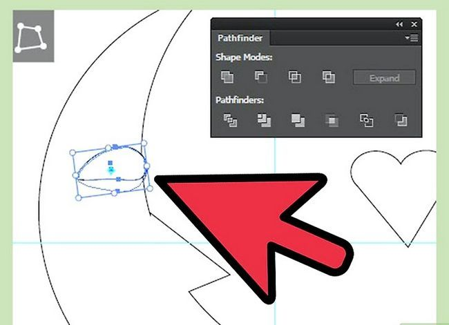 Prent getiteld Teken `n maan in Adobe Illustrator Stap 7