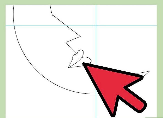 Prent getiteld Teken `n maan in Adobe Illustrator Stap 8