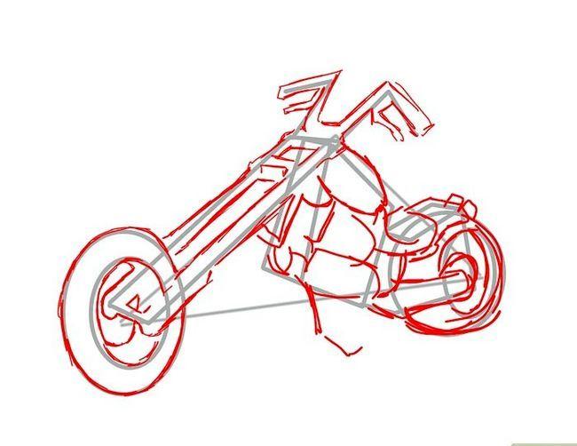 Prent getiteld Teken `n motorfiets Stap 11