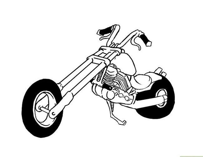 Prent getiteld Teken `n motorfiets Stap 12
