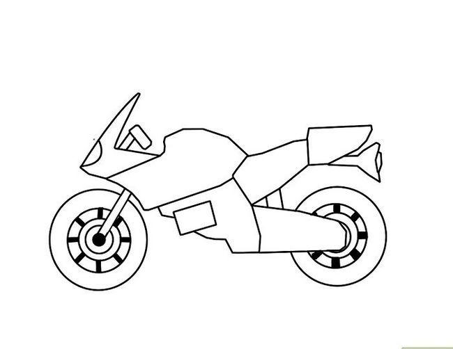 Prent getiteld Teken `n Motor Stap 5