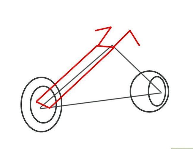 Prent getiteld Teken `n motorfiets Stap 9