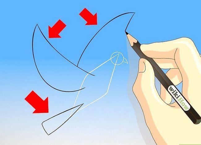 Prent getiteld Teken `n duif Stap 3