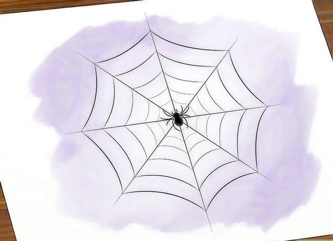 Prent getiteld Teken `n Spider Web Stap 16