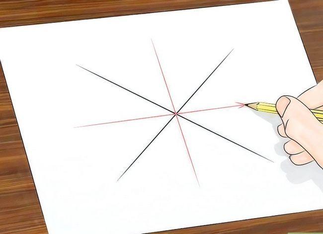 Prent getiteld Teken `n Spinnekop Web Stap 5