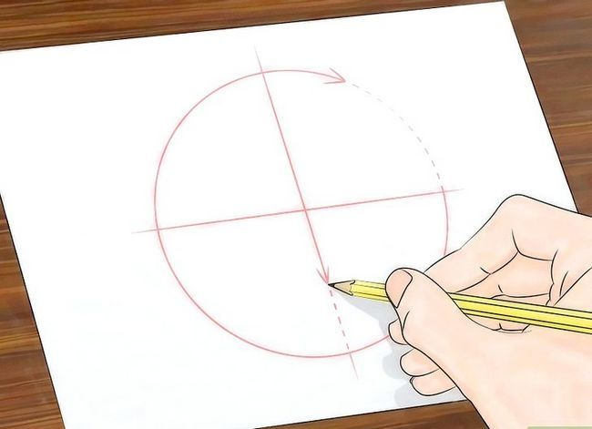 Prent getiteld Teken `n Spider Web Step 10