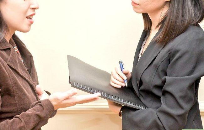 Prent getiteld Bespreek `n Voormalige Werkgewer in `n Onderhoud Stap 2