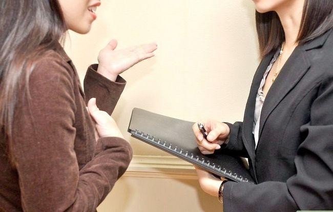 Prent getiteld Bespreek `n Voormalige Werkgewer in `n Onderhoud Stap 3