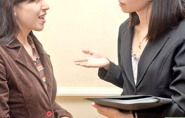 Prent getiteld Bespreek `n Voormalige Werkgewer in `n Onderhoud Stap 5