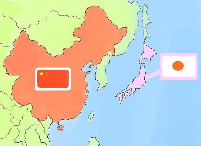 Prent getiteld Onderskei tussen Japannese en Chinese kulture Stap 2