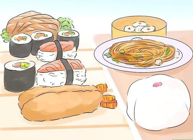 Prent getiteld Onderskei tussen Japannese en Chinese kulture Stap 3
