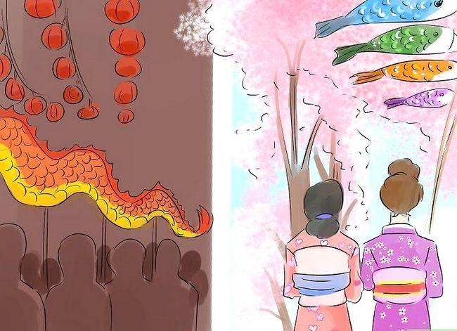 Beeld getiteld Onderskei tussen Japannese en Chinese kulture Stap 5