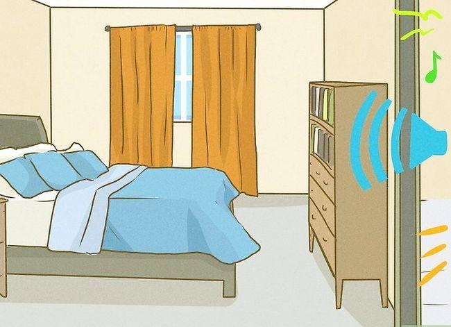 Prent getiteld Slaap met baie geluid Stap 1