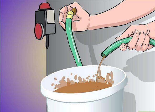 Prent getiteld Drain `n waterverwarmer Stap 13