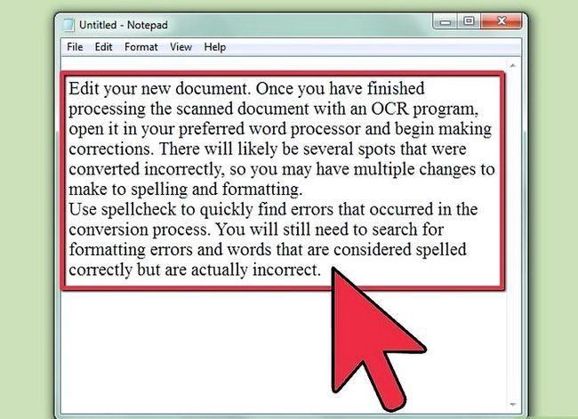 Prent getiteld `n geskandeerde dokument stap 5 verander