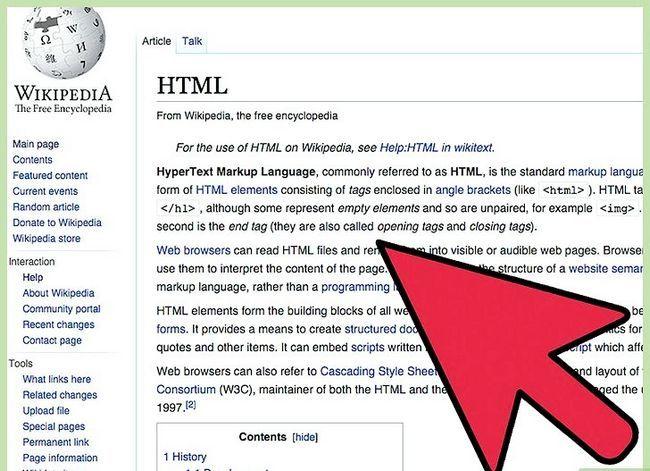 Prent getiteld `n HTML-lêer Stap 1 uitvoer