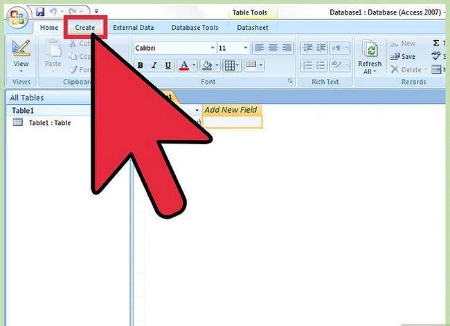 Beeld getiteld `n navraag doen in MS Access 2007 Stap 2