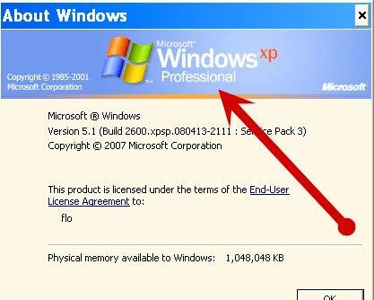Prent getiteld Kies Windows XP Home versus Professionele uitgawe Stap 1